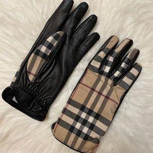 Burberry gloves nova check size 7